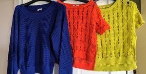 Anthropologie Moth Eyelet Sweaters EUC!!!